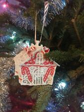 free standing gingerbread house christmas ornament candle shade