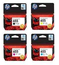 NEW Genuine HP 4pack Ink Cartridge 655 Combo DeskJet 4615 4625 5525 3525 Printer