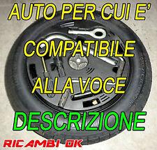 KIT Ruotino di scorta R14 Fiat Panda 500 Strada-Citroen Nemo-Lancia Ypsilon