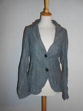 170 43 BE INN blazer donna tgl L grigio nero a spina di pesce motivo Crash PIEGA