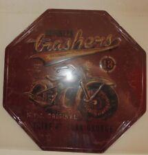 "PLAQUE TOLE Vintage MOTO ""TRASHERS BROOKLYN"" 30 x 30 cm Neuf emballage d'origine"