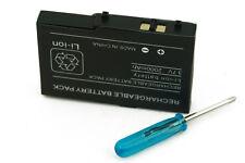 New Replacement Battery 2000mAh Nintendo DS Lite NDSL +Screwdriver