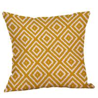 Mustard Pillow Case Yellow Geometric Fall Soft Pillow Cushion Cover Decorative