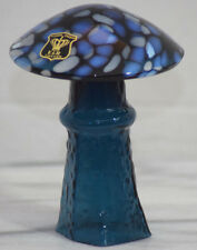 PSYCHEDELIC BO BORGSTROM ASEDA ART GLASS MAGIC MUSHROOM E&R GOLDEN CROWN BLUE M