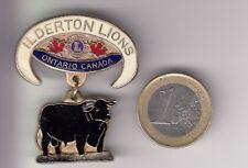 RARE PINS PIN'S BROCHE BIG 3D ..  ONG LIONS CLUB CANADA VACHE ILDERTON ON ~17