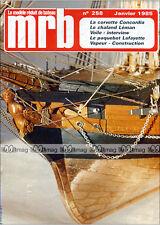 MRB N°258 CORVETTE CONCORDIA, PAQUEBOT CGT LAFAYETTE, CHALAND LEMAN 1985