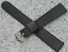 Long 19mm black Scandia Calf vintage watch band by JB Champion USA c. 1960s