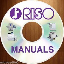 BEST & BIGGEST RISO EQUIPMENT MANUALS Parts + Service MANUAL CD SET!