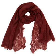 Burgundy Lace Scarf