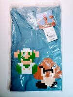 Uniqlo Men's Medium Blue T-Shirt Luigi Player 2 Super Mario UT New With Tags NWT
