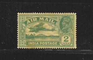India KGV 1929, SG 220, 2 A, Air Mail,