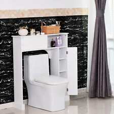 Over-The-Toilet Storage Cabinet Shelf Organizer Freestanding Spacesaver White