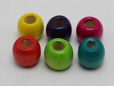 100 Mixed Color Barrel Wood Beads 12mm with Big Hole~Wooden Spacer