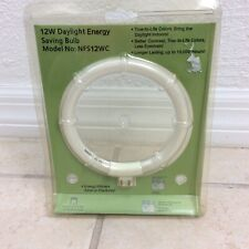 NIP Normande Lighting 12W Daylight Energy Bulb NFS12WC Replacement Round