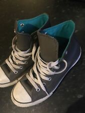 Grey Leather High Top Converse UK 2 **Excellent Condition**