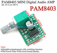 PAM8403 DC 5V 3WX2 C2.0 Adjustable Small Digital Audio Amplifier Board AMP DIY