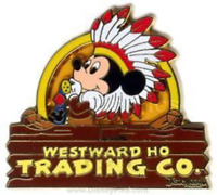 Disney Pin 60209 DLR Westward Ho Trading Co. Mickey Mouse as Chief Headdress LE