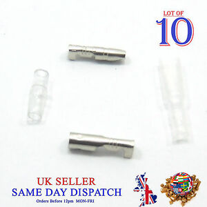 10x Motorcycle 3.9mm Bullet Connector Male & Female Socket Classic Terminal P&C