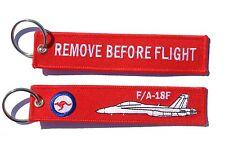 RAAF F/A18 Super Hornet Remove Before Flight Key Ring Luggage Tag
