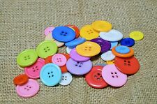 LARGE Mixed Colour Buttons - 45 Buttons - Resin - Scrapbook - Sewing