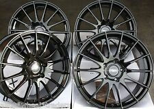 "18"" BLK FX004 ALLOY WHEELS FITS RENAULT VOLVO PEUGEOT MERCEDES BENZ 5X108 ONLY"