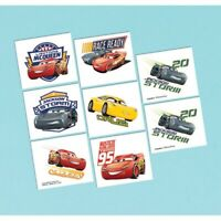 DISNEY CARS 3 TATTOO - 8 TATTOOS PARTY FAVOURS SUPPLIES