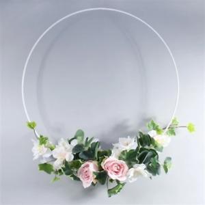 Metal Macramé Ring / Flower Hoop - White