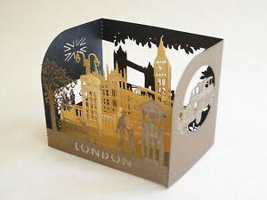 London Souvenir Laser Pop-Up Greeting Card - Landmarks - Big Ben, Tower Bridge