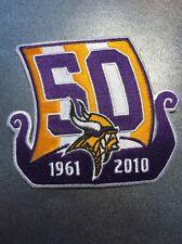 "Minnesota Vikings NFL 50th Anniversary Patch 1961 To 2010 3.5"" X 4"""