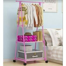 Multifunctional Garment Laundry Rack with 2-tier Shoe Clothes Storage Shelves