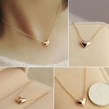 Fashion Girl Simple Design Exquisite Gold Color Chain Heart Love Neckless