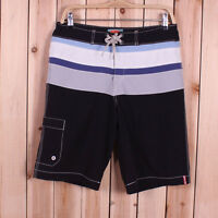 New Tommy Bahama Relax Men Swim Trunk Blue Striped Shorts with pocket Sz 36