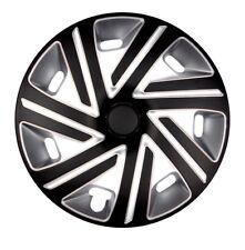 "4x Premium Diseño Tapacubos ""Cyrkon"" 16 Pulgadas #77 Negro Plata"