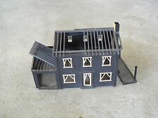Vintage Ho Scale Plasticville Black Construction House Building Look