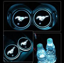 for Ford Mustang 2Pcs Auto Atmosphere Lights Colorful LED Car Cup Holder Pad Mat