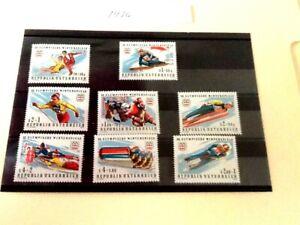 8 MINT 1976 XII Winter Olympics Innsbruck Austria stamps