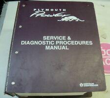 1997 PLYMOUTH PROWLER SERVICE SHOP REPAIR MANUAL
