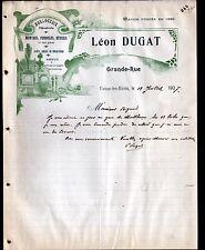 """EVAUX-les-BAINS (23) HORLOGERIE BIJOUTERIE """"Léon DUGAT"""" illustrée PENDULE MONTRE"""