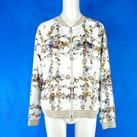 Riani Ladies Summer Jacket Women's Transitional Blouson Size 38 M White New