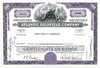 Atlantic Richfield Company Stock Certificate 100 Shares