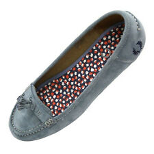 Fred Perry Ballerina Loafers B9065W Betty Suede Blau Damen Schuh 5022