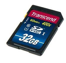 32GB Transcend Premium SDHC CL10 UHS-1 400x Memory Card