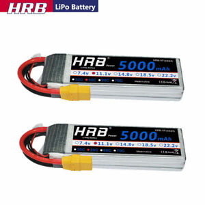 2pcs HRB 11.1V 3S LiPo Battery 5000mAh XT90 For RC Quad Helicopter Car Truck