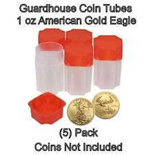 Square Coin Storage Tubes for 1oz American Gold Eagles by Guardhouse 5 pk