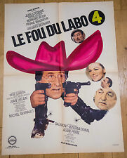 Affiche de cinéma : LE FOU DU LABO 4 de JACQUES BESNARD