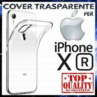 COVER per APPLE IPHONE XR Custodia Trasparente Morbida Silicone Ultra Slim TPU