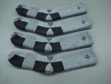 NWOT Men's USA Columbia Merino Wool Socks 4 Pair Size 10-13 Grey/Black #1000A