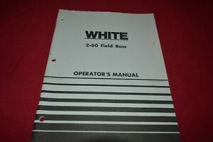 White 2-60 Tractor Operator's Manual AMIL15