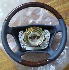 New Genuine Mercedes-Benz W210 E-Class Steering Wheel Leather & Walnut Wood