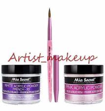 Mia Secret Acrylic Nail Powder Pink + White 2 oz + Kolinsky Brush# 4OR